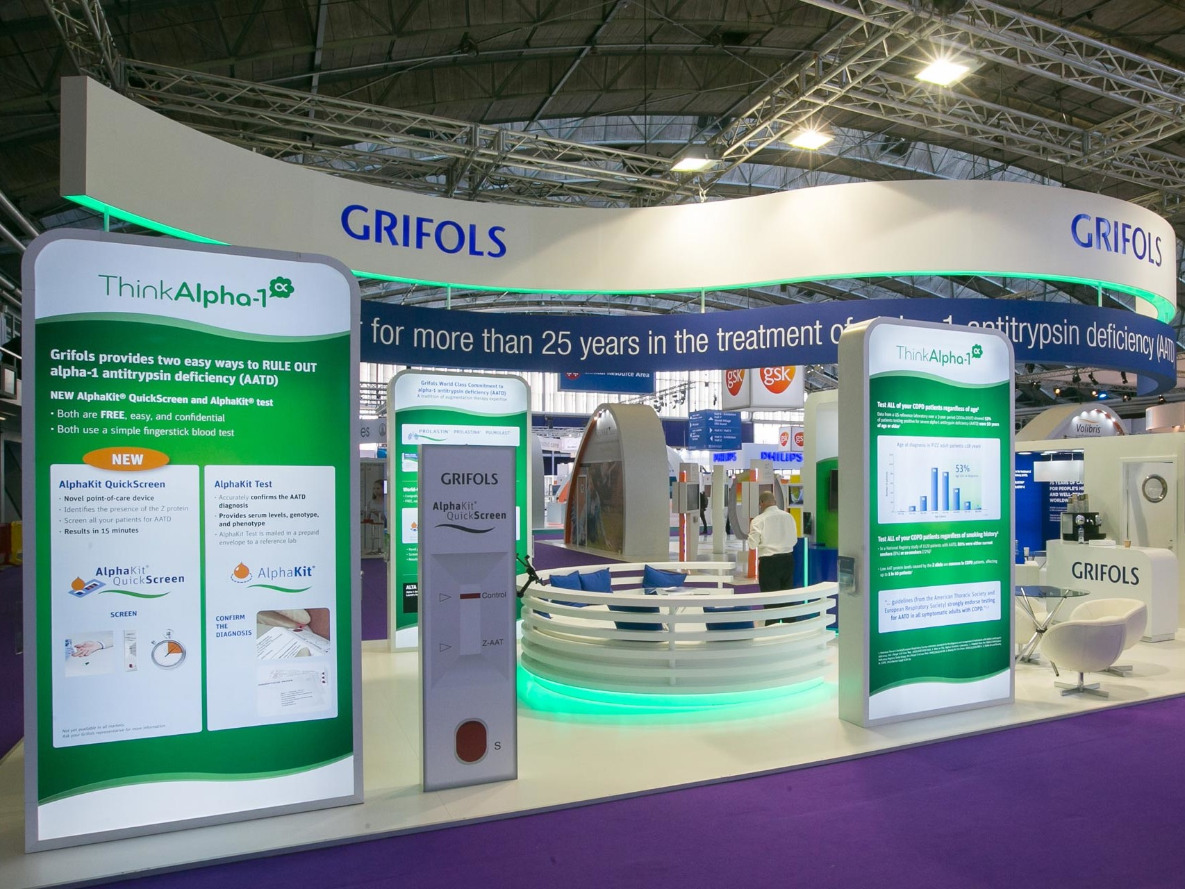 exhibition stand Grifols.