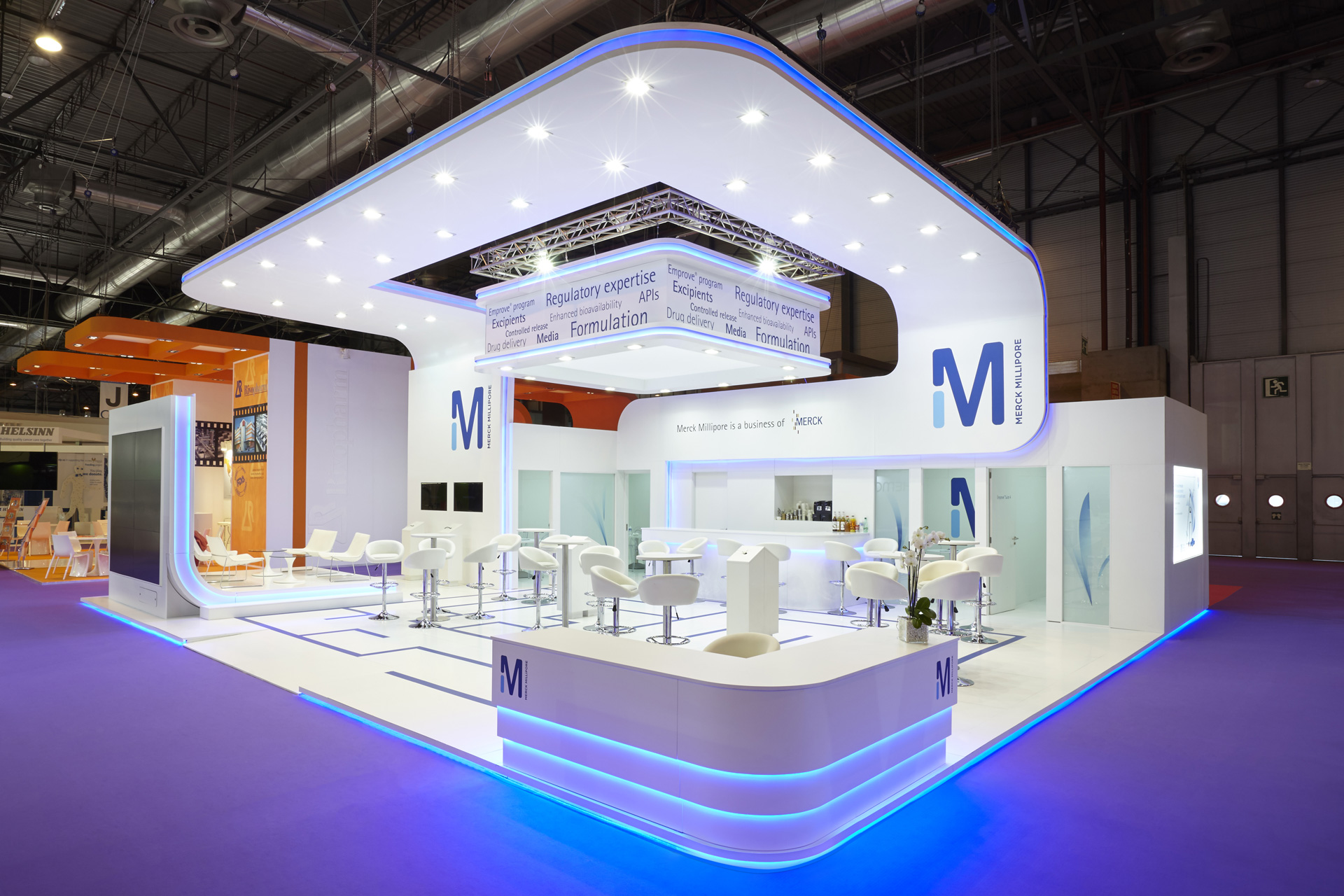 Expo Exhibition Stands S : Merck millipore cphi madrid pro expo exhibition stand