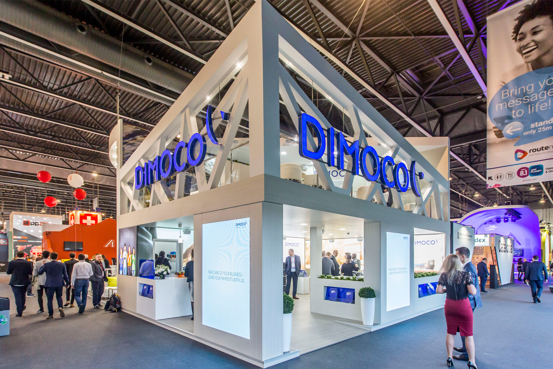 Dimoco mwc barcelona 2017 pro expo exhibition stand for Expo barcelona