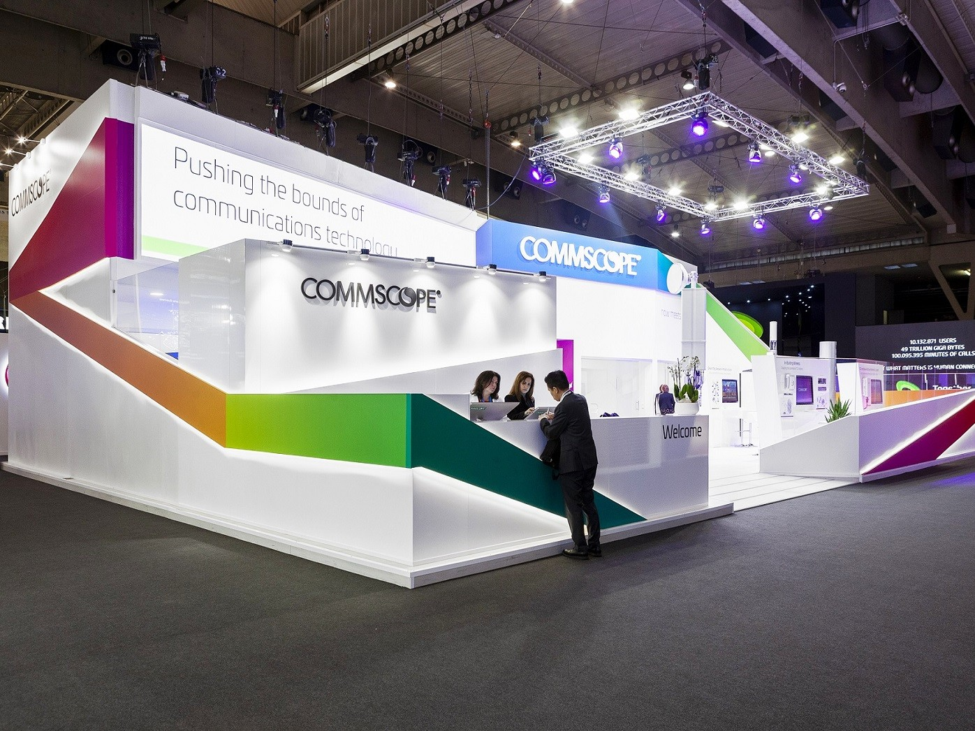 Pro Expo Communication Stands Events : Commscope stands stands