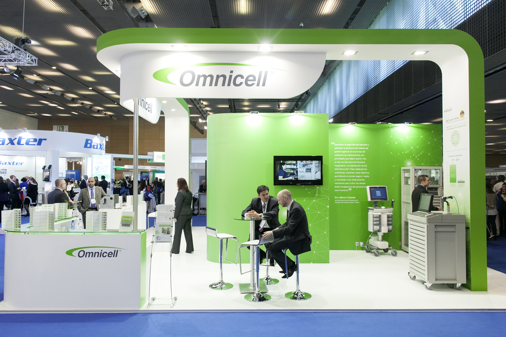 Exhibition Stand Design Barcelona : Omnicell eahp barcelona pro expo exhibition stand