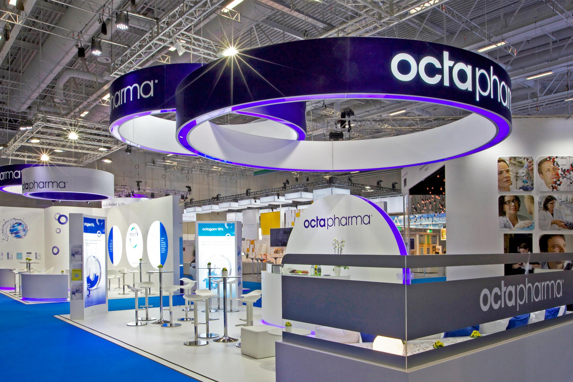 exhibition stand octapharma