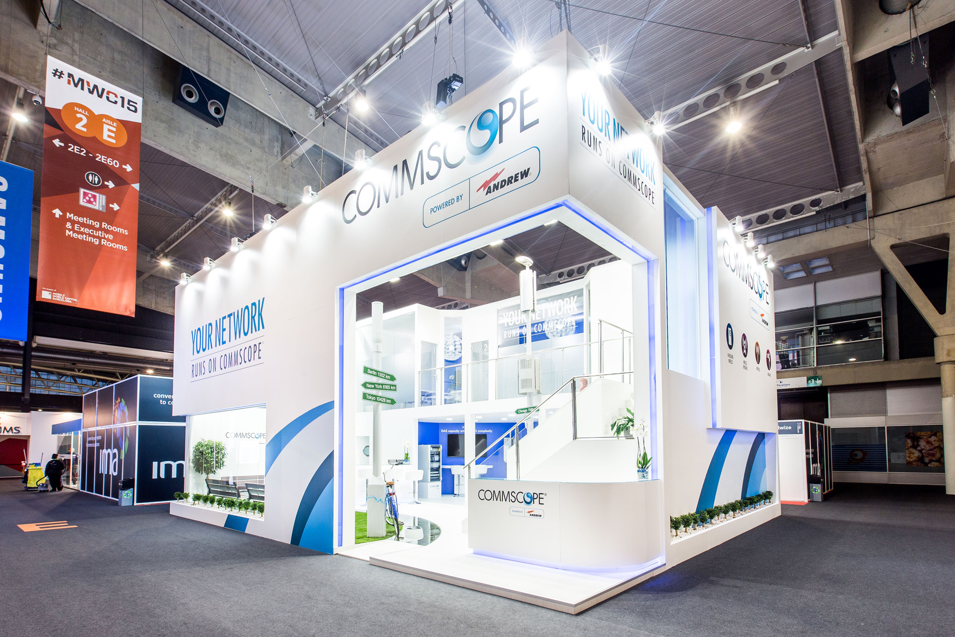Exhibition Stand Design Website : Commscope mwc barcelona pro expo exhibition stand