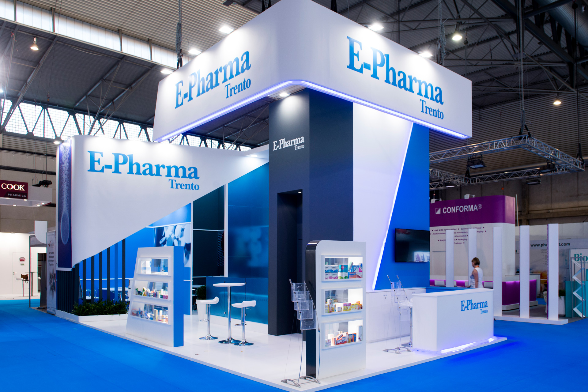 Expo Exhibition Stands Yellow : Epharma cphi barcelona pro expo exhibition stand