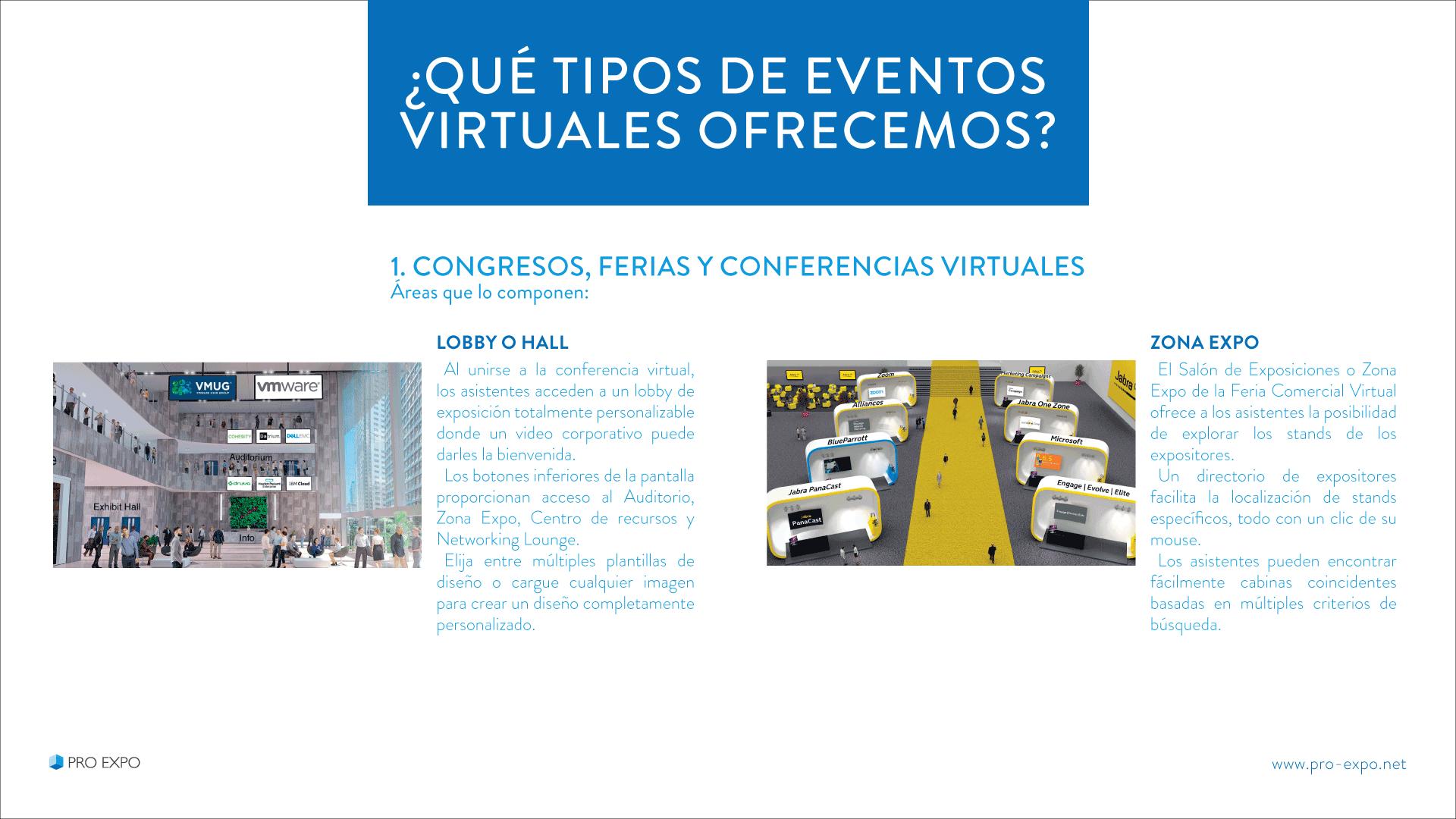 Tipos de Eventos Virtuales