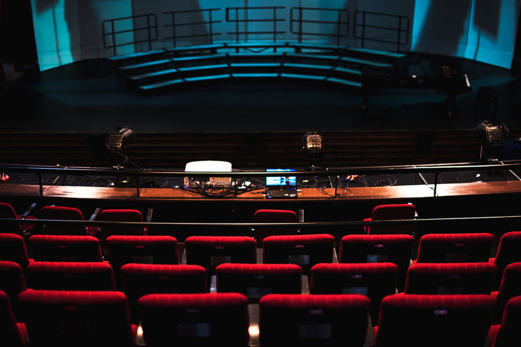 How does a Virtual Auditorium work during an online event?